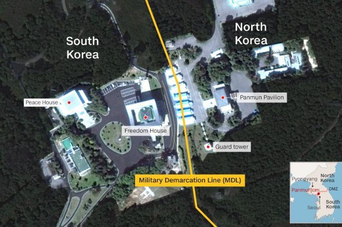 Lokasi Joint Security Area atau JSA.