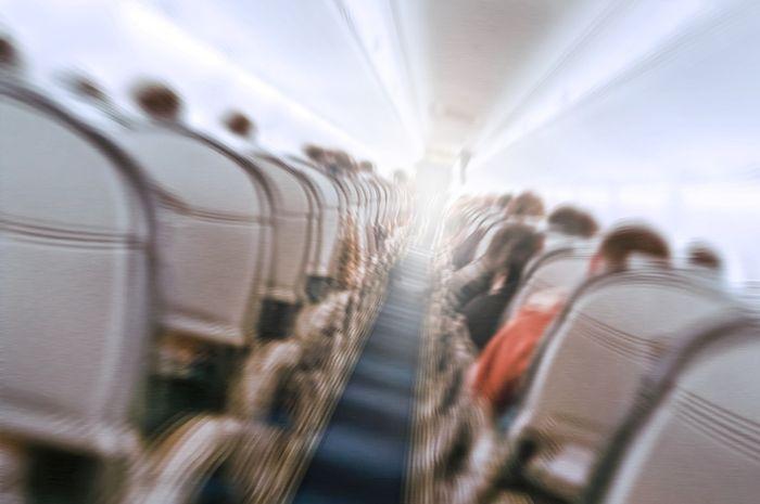 Ilustrasi guncangan pada pesawat.
