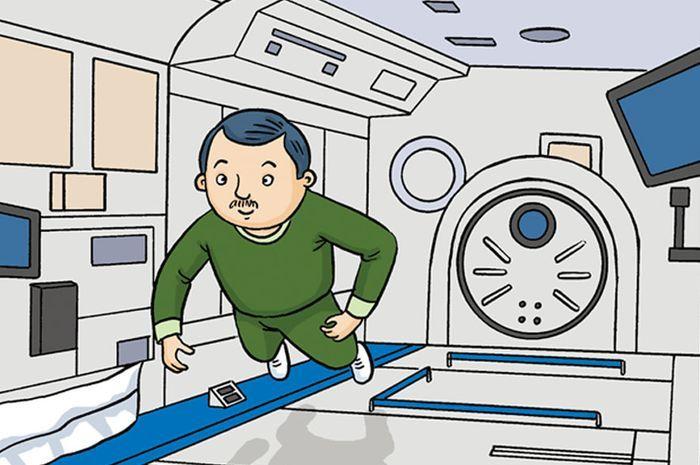 Ilustrasi astronaut