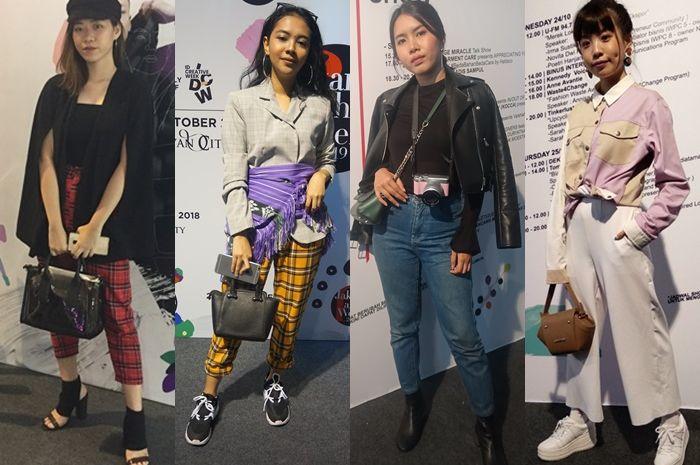 Inspirasi Tren Fashion dari Gaya Pengunjung Jakarta Fashion Week 2019 di Senayan City, yang dikumpul