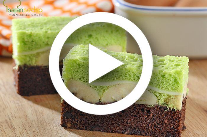 (Video) Resep Membuat Pandan Choco Cake Praktis dan Paling Enak Untuk Dessert, Bikin Ketagihan!