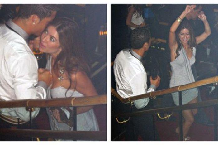 Kedekatan Cristiano Ronaldo dan Kathryn Mayorga terekam CCTV di klub malam SIn City, Las Vegas.