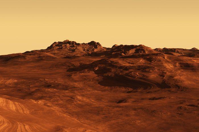 ilustrasi tanah Mars