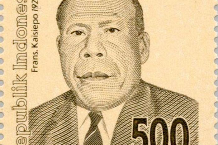 Pahlawan Nasional Frans Kaisiepo pada perangko tahun 1999