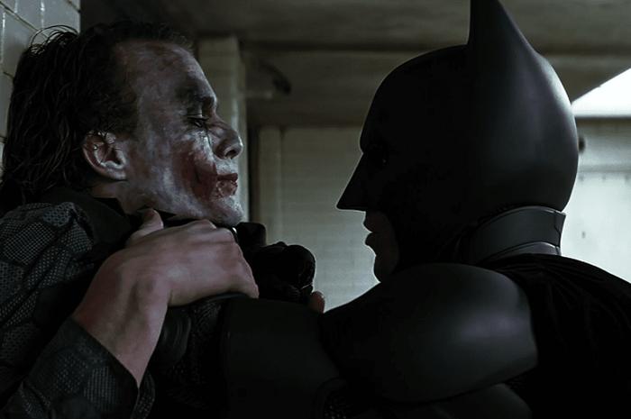 Joker dan Batman dalam film The Dark Knight