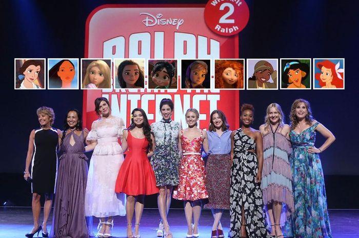 Beberapa pengisi suara princess Disney di Wreck it Ralph 2