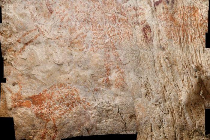 Salah satu gambar banteng yang diperkirakan berusia 40 ribu tahun lalu.