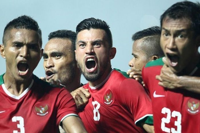 Timnas Indonesia di Piala AFF 2018.