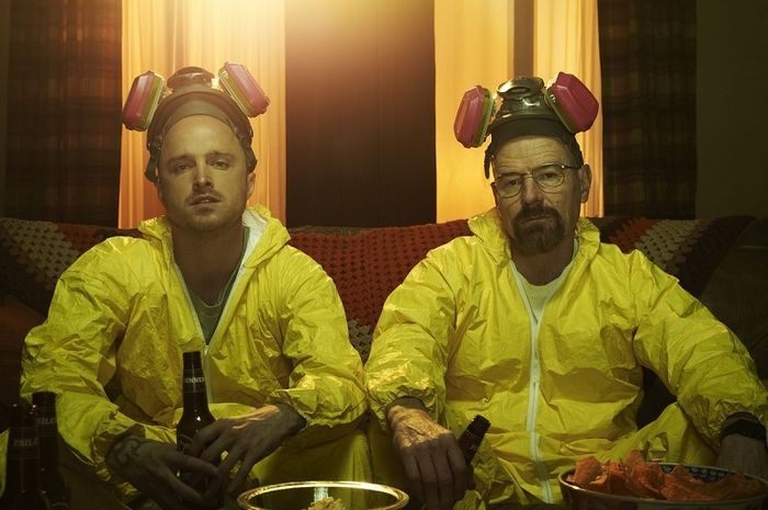 Jesse Pinkman dan Walter White dalam serial Breaking Bad