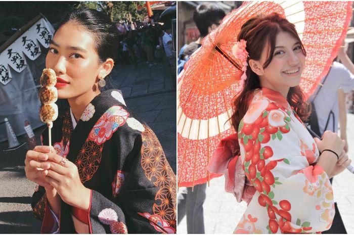 Seleb Indoensia cewek kenakan Kimono