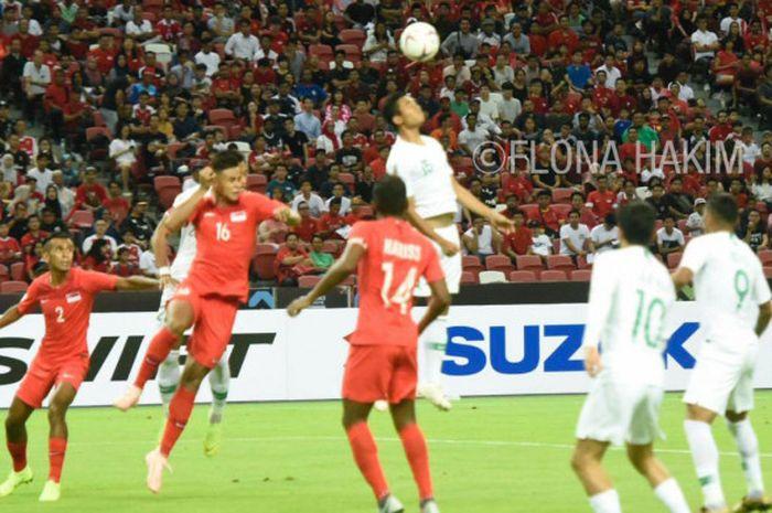 Timnas Indonesia kalah 0-1 dari timnas Singapura pada partai pertama Piala AFF 2018