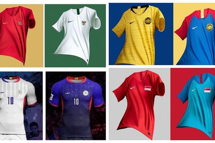 Jersi-jersi negara peserta Piala AFF 2018