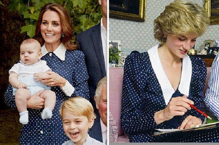 Kate Middleton gunakan busana yang sama dengan putri Diana