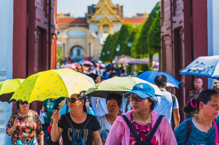 Ilustrasi wisatawan Tiongkok.
