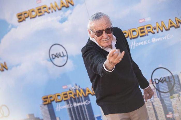 Produser eksekutif dan penulis komik Stan Lee menghadiri menghadiri pemutaran perdana film Spider-man: Homecoming di TCL Chinese Theater di Hollywood, California, pada 28 Juni 2017.