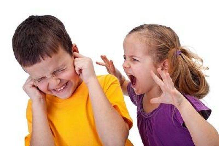Ilustrasi anak agresif