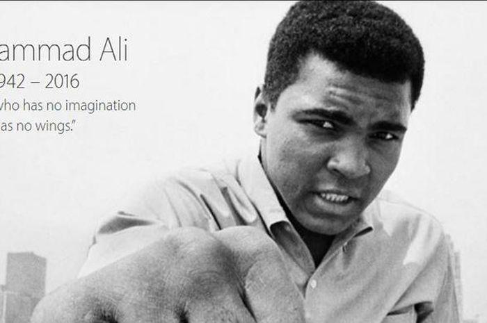 Muhammad Ali di Apple.com