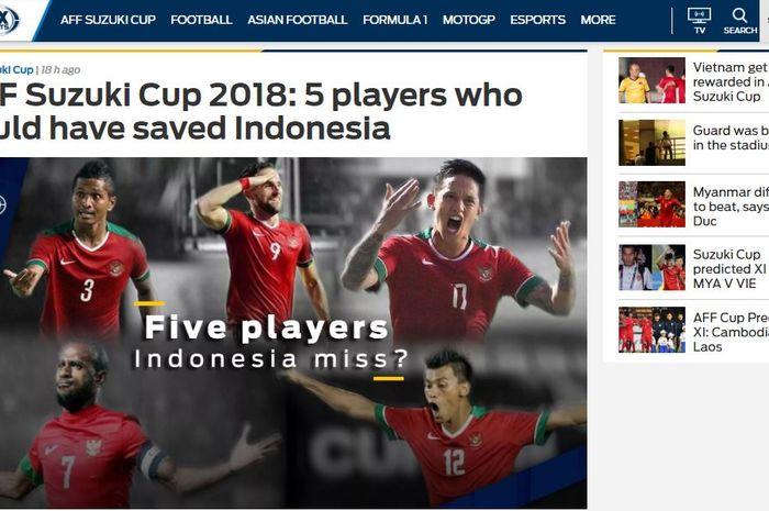 Media asing Fox Sports Asia sebut 5 pemain yang bisa menyelamatkan timnas Indonesia