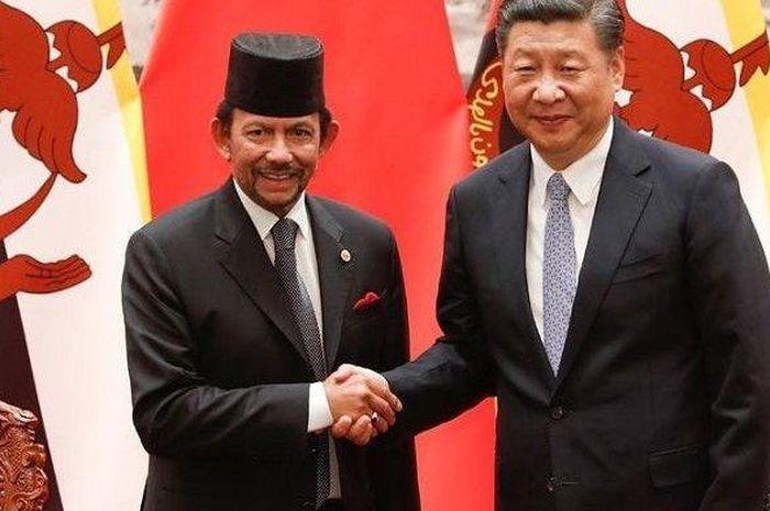 Pemimpin Brunei Darussalam dan presiden China