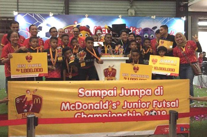 SD Pelita Permai dari Surabaya menjadi juara satu MJFC 2018.