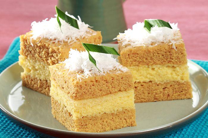 Cara Membuat Cake Kukus Kelapa Gula Merah