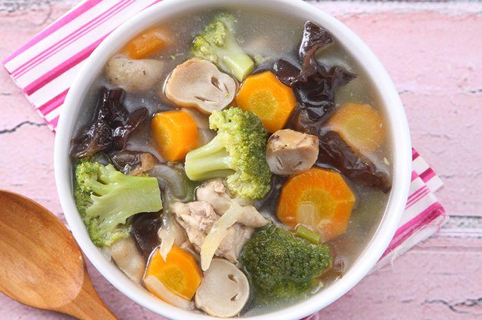 Resep Masak Sup Brokoli Jamur