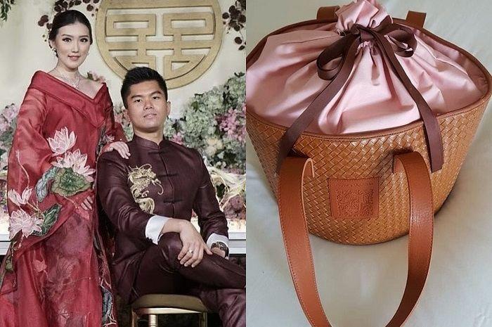 Welcome gift di pernikahan pernikahan Jusup Maruta dan Clarissa Wang, pasangan Crazy Rich Surabaya