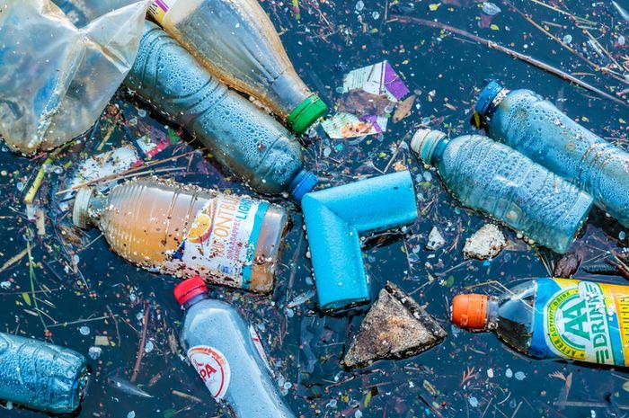 Sampah plastik mulai dari yang besar hingga potongan kecilnya mengambang di lautan.