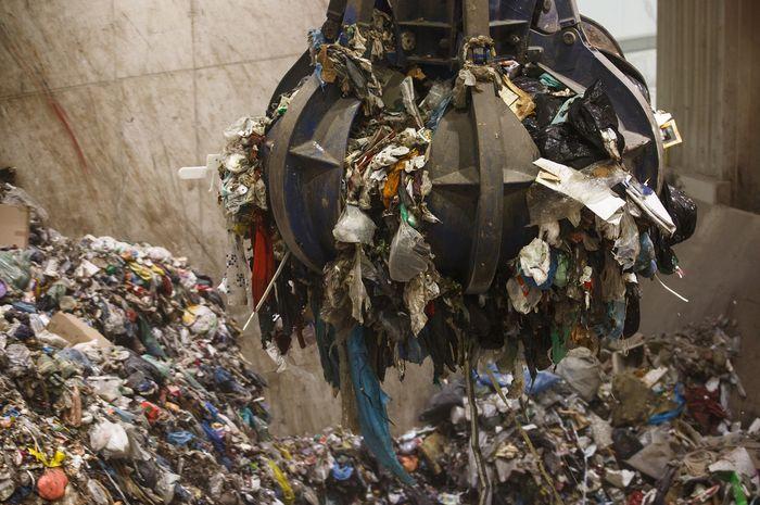 Ilustrasi timbunan sampah.