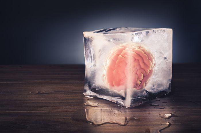 Ilustrasi brain freeze