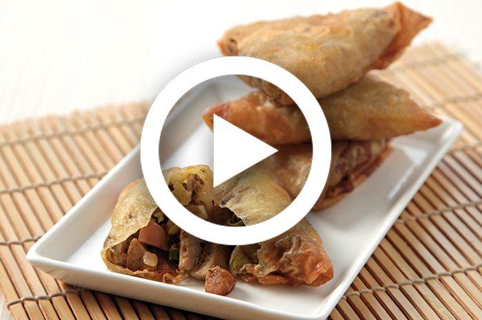 (Video) Resep Membuat Samosa Jamur Bakso Sosis, Camilan Renyah yang Mudah Dibuat