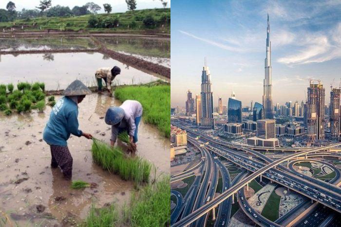 Ilustrasi foto Dubai dan Indonesia