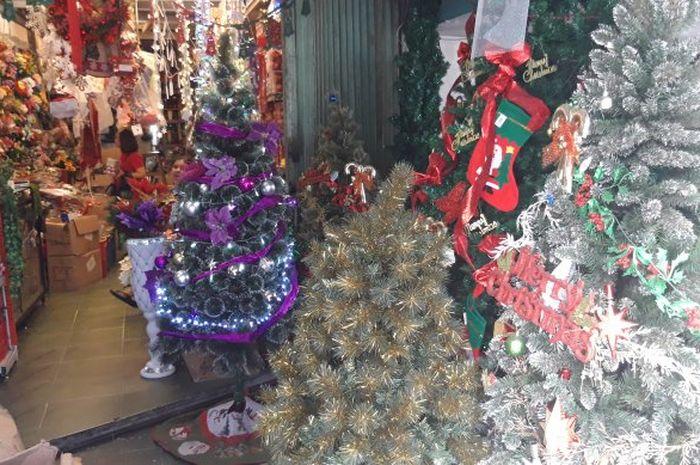 Berburu pohon Natal di Pasar Asemka