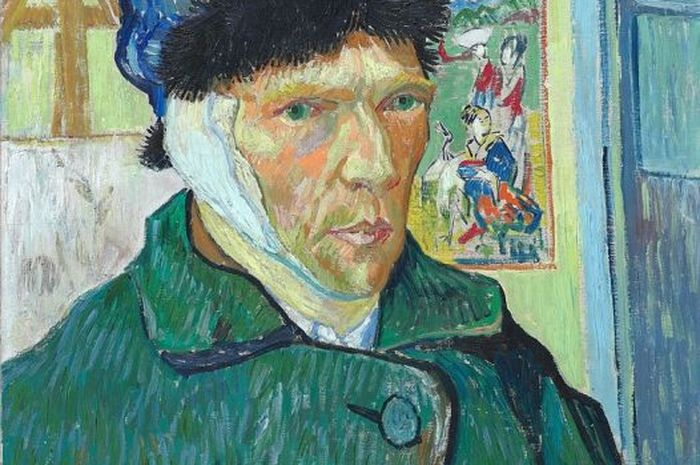 Self-portrait with Bandaged Ear, 1889, Courtauld Institute of Art, London.