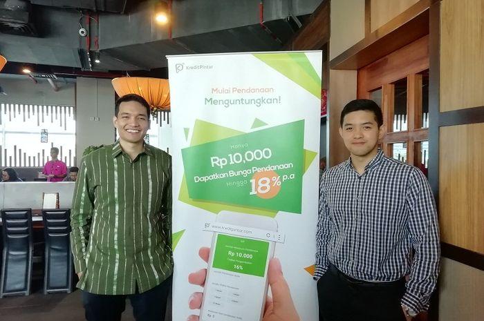 Boan Sianipar (Vice President Kredit Pintar) dan Wisely Wijaya (CEO dan Co-Founder Kredit Pintar)