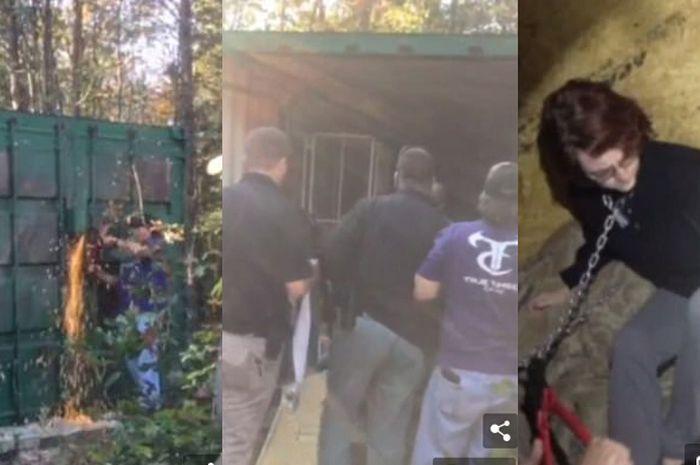 Detik-detik ketika polisi temukan Kala Brown di dalam kontainer