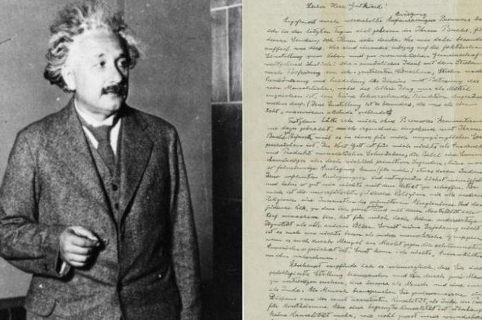 'Surat Tuhan' milik Albert Einstein.