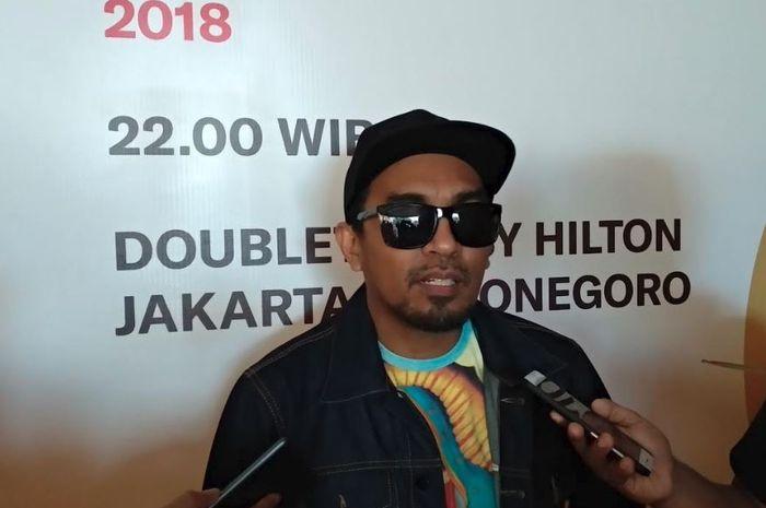 Glenn Fredly saat dijumpai di DoubleTree by Hilton, Cikini, Jakarta Pusat, Kamis (6/12/2018).