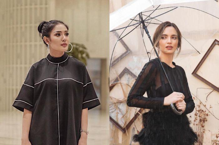 Nindy Ayunda dan Nia Ramadhani kenakan busana yang sama, pilih mana nih?