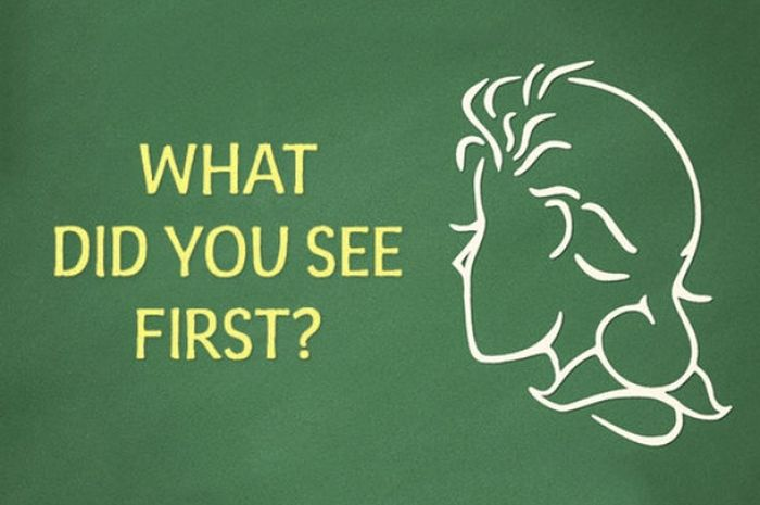 Perempuan atau laki-laki tua yang Anda lihat pertama kali?