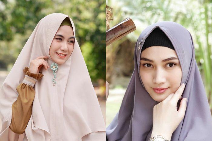 Beda gaya hijab syar'i Anisa Rahma vs Melody eks JKT48,siapa favoritmu?