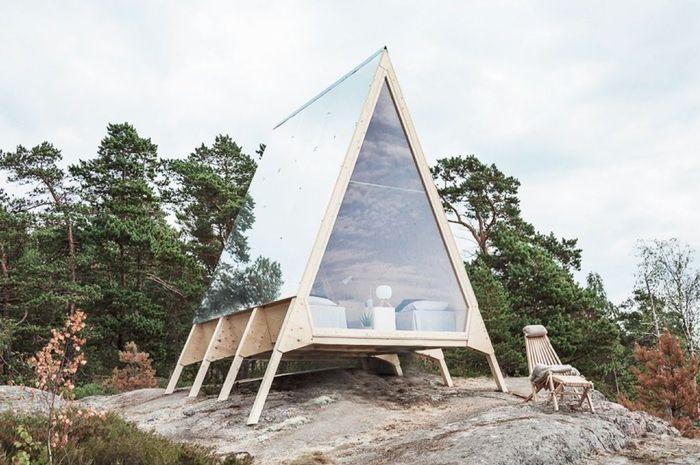 Kabin Nolla yang bisa menunjukkan pada manusia bagaimana hidup dekat dengan alam dan tanpa limbah