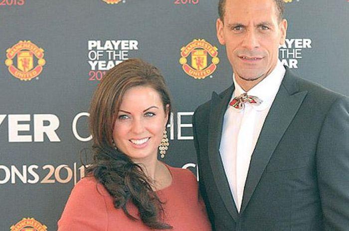 Potret masa lalu Rio Ferdinand (kanan) dengan Rebecca.