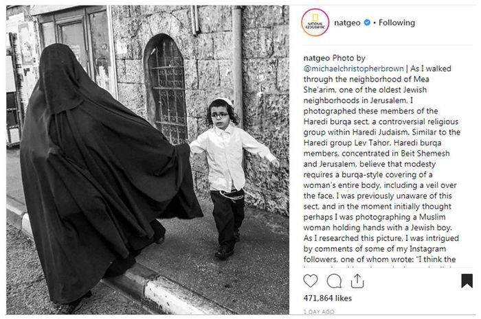 Wanita Yahudi Mengenakan Burka