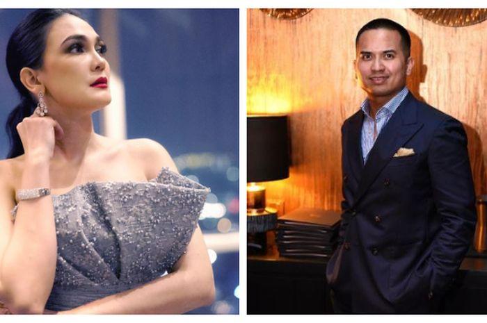 Kolase foto Luna Maya (kiri) dan Faisal Nasimuddin