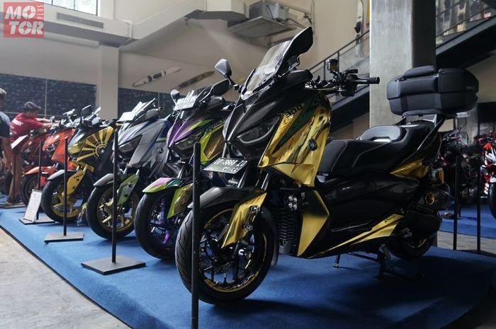 Jajaran XMAX keren kontestan Customaxi Makassar.
