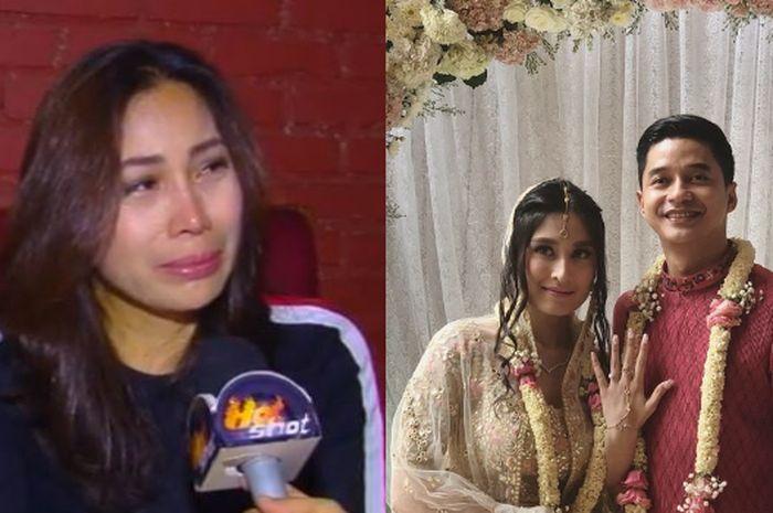 Ibu Angbeen Rishi (kiri) dan Adly Fairuz - Angbeen lamaran (kanan).