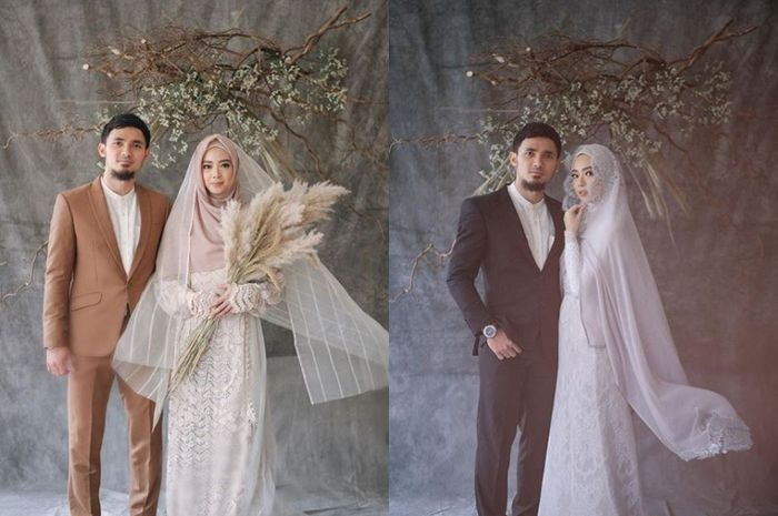 Lindswell Kwok Kenakan Baju Pengantin Hijab Syar I Saat Prewedding