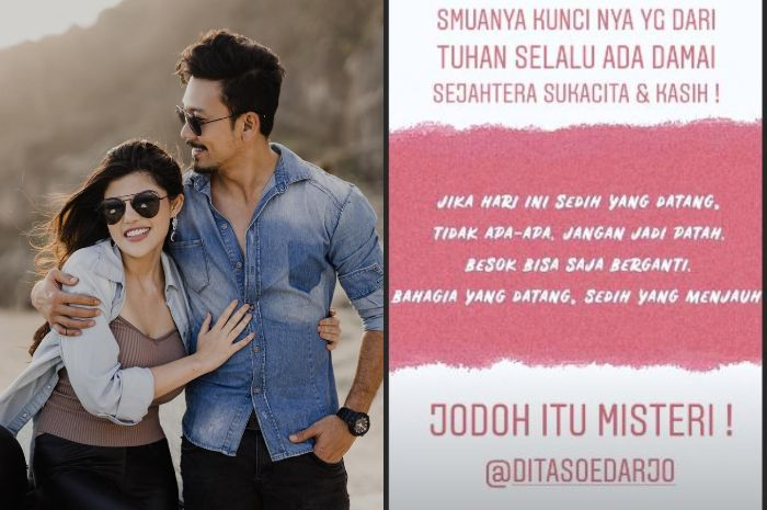 FRAGILE: The news that Dita Soedarjo was married to Denny Sumargo. This news was first known to Angela & # 39; s best friend Angela.