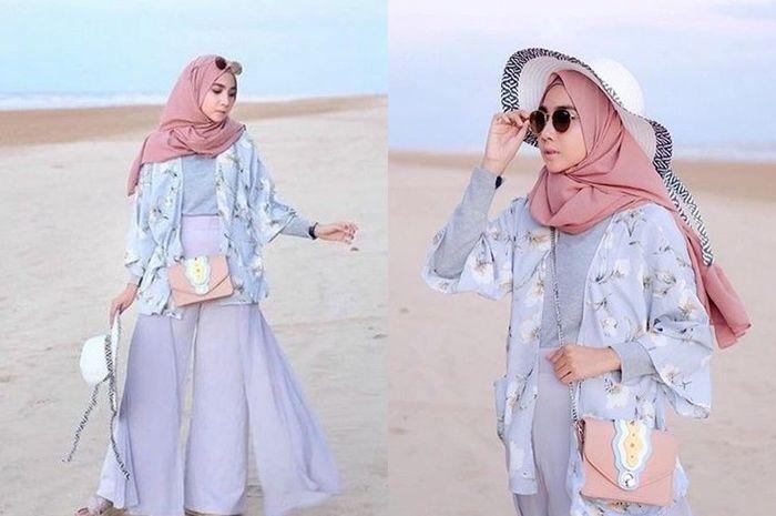 Inspirasi Outfit Hijab Untuk Ke Pantai Yang Stylish Dan Santun